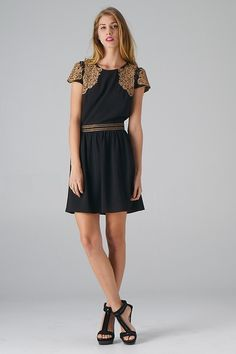 Embroidered Top and Waist Dress