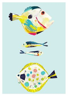 Limited Edition 'Bright Fish' Wall Art by Faye Bradley
