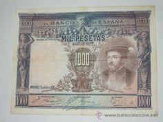 billete de españa mil pesetas banco de españa 1925 ebc sin serie