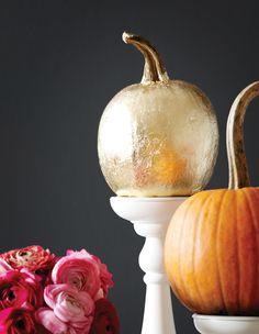 Gold foil pumpkin