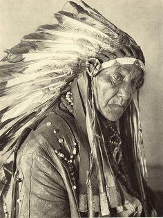 Oklahoma. Big Chief White Horse Eagle of the Osagi Tribe