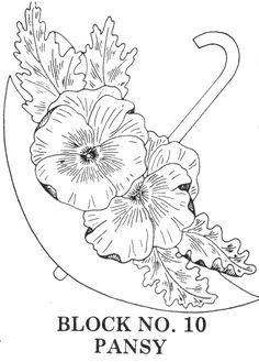 umbrella bouquets embroidery applique
