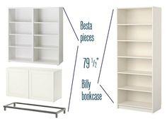 Bookcase tutorial w/ IKEA bookcases