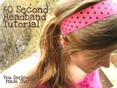 really cute and EASY headband