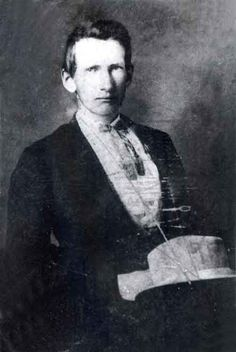 Alexander Franklin James (1843 – 1915) was the older brother of Jesse James. He was born January 10, 1843, to Robert and Zerelda James. Frank, like the rest of his family, was a Confederate sympathizer. He joined a unit of Governor Claiborne Fox Jackson's Home Guard on May 4, 1861, and fought at the Battle of Wilson's Creek under General Sterling Price.