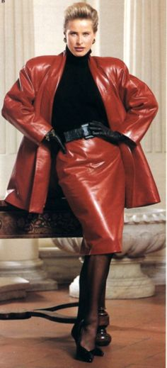 1980s Leather Suit
