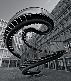 The Impossible Staircase in Munich – Umschreibung by Olafur Eliasson