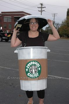 Coolest Starbucks Coffee Cup Costume Idea... This website is the Pinterest of costumes