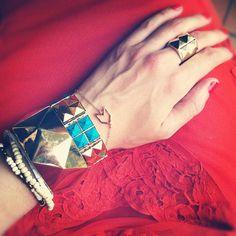 Every arm party loves our Chevron Charm Bracelet! via @eat.sleep.wear.
