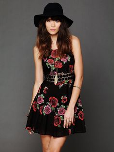 Free People Daisy Waist Print Dress at Free People Clothing Boutique