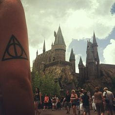 Harry Potter Deathly Hallows tattoo. Got it done a year ago by El Ray at Goodfellas Tattoos.
