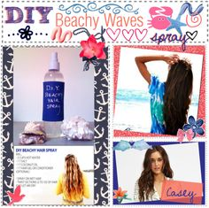 """DIY Beachy Waves Spray."" by the-tip-girls-of-neverlan on Polyvore"