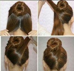 Sock bun with a twist