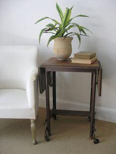 wood-top typewriter table