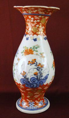 Large Antique 19c Japanese Imari Porcelain Vase