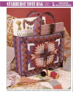 images of plastic canvas tote bag patterns | ... & Yarn > Needlepoint & Plastic Canvas > Plastic Canvas Patterns Sorry no pattern available, this is for inspiration only