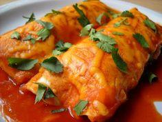 roasted poblano and sweet potato enchiladas