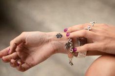 Wrist Paw Tattoos for Girls