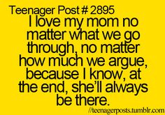 i <3 my mom she means the world to me and i dont know what i would do without her