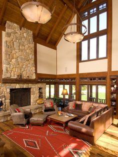 Home Living Rooms On Pinterest Timber Frames