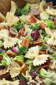 Lighter Broccoli, Grape and Pasta Salad