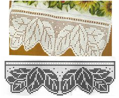 Leaf Edging Filet Crochet Chart - FC