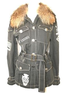 Must Have Double D Ranch Ladies Indian Head Field Jacket Agave with fur
