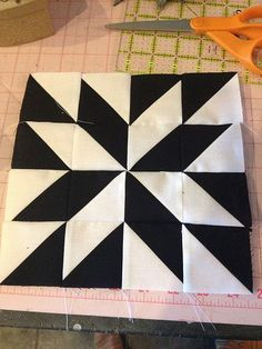 half square triangle quilt | Modern Half-Square Triangle Quilt-a-Long Block 22
