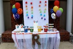 Sesame Street Cake Table street cake, street birthday, girl birthday, birthday parties, birthday idea, cake tables, parti caleb, parti time