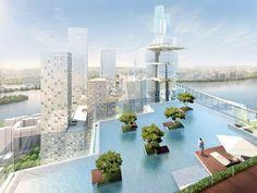 YIBD in Seoul Korea - amazing cantilevered pool - #seoul #korea #hotel #highrise #travel