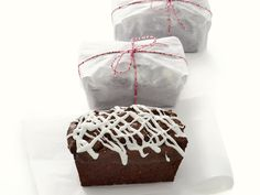 Yummy chocolate brownie with white iceing