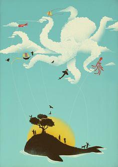 Beyond the Sea Art Print by Jay Fleck | Society6
