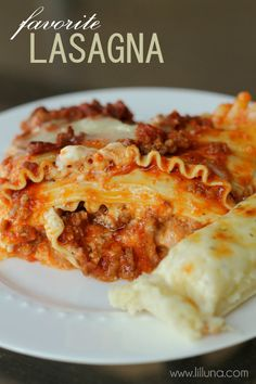Easy lasagna recipe. I'll substitute to make it healthier... Greek yogurt instead of sour cream and turkey instead of pork and beef.
