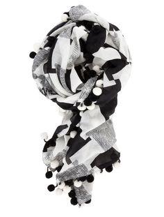 DVF pom pom scarf