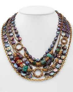 Bronze and pearl necklace by Stephen Dweck