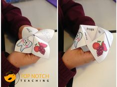 Cootie catchers (or chatterboxes/fortune tellers) are a fun way of combining a popular children's game with some practice in reading and spelling words that have a particular phonics focus. Grab a free sample here.