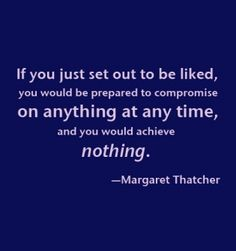 by Margaret Thatcher