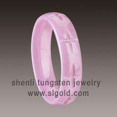 pink ceramic rings