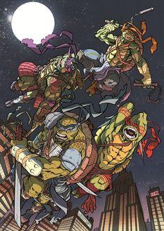 Teenage Mutant Ninja Turtles by Davide Tinto, colours by Francesca Carotenuto *