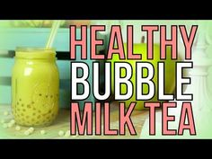 Healthy Bubble Milk Tea Boba – yes it's possible!