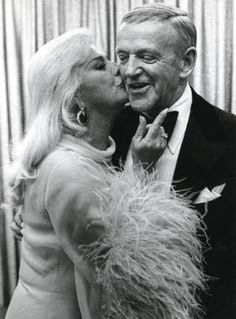 Fred Astaire and Ginger Rogers, photographed by Ulvis Alberts in 1975.