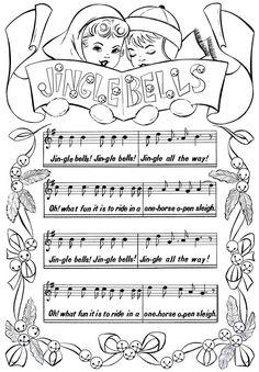 Printable Christmas Coloring Page Jingle Bells