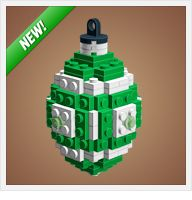 Instructions to make Christmas ornaments from Legos. The boys will love this!