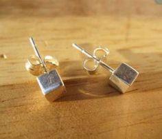 Small Cube Earrings