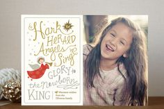 Angels Sing Christmas Photo Cards by Griffinbell Studio | Minted