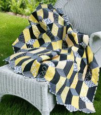 Rectangular Prisms by Marcia Harmening in Best Fat Quarter Quilts 2014.