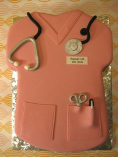 Nursing scrubs cake