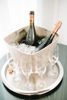 buckets, pari, weddings, champagne party, drink