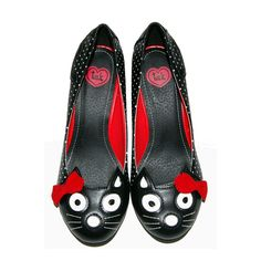 Cats on Shoes!!  T.U.K. Shoes Antipop Kitty Heel