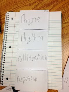 Rhyme/Rhythm/ Alliteration/ Repetition Activity (poetry club)